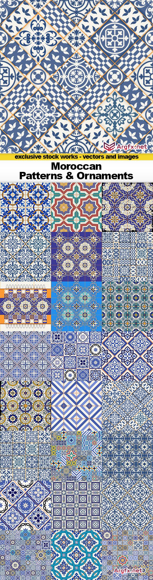 Moroccan Patterns & Ornaments, 25x EPS